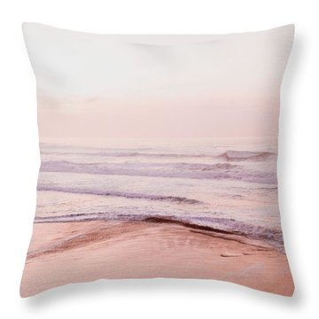 Throw Pillow featuring the photograph Pink Pacific Beach by Bonnie Bruno