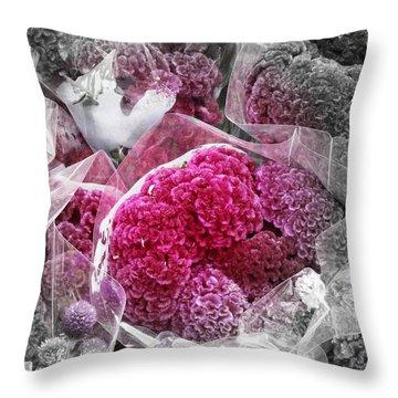 Pink Paradise Throw Pillow