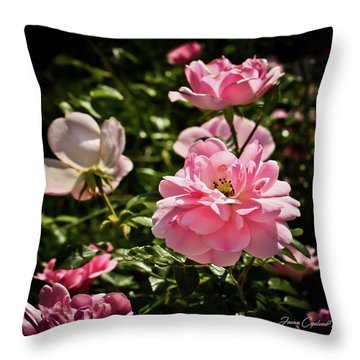 Throw Pillow featuring the photograph Pink Passion  by Joann Copeland-Paul