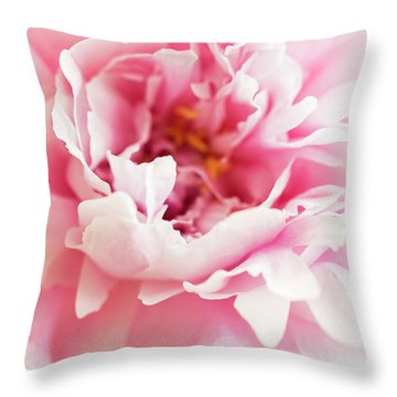 Throw Pillow featuring the photograph Pink Peony 2 by Elena Nosyreva