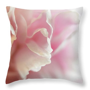 Throw Pillow featuring the photograph Pink Peony by Elena Nosyreva