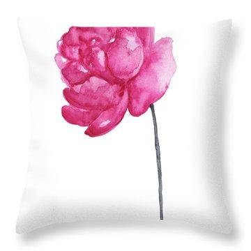 Pink Peony, Nursery Room Print, Baby Girl Kids Room Decoration,  Throw Pillow