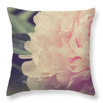 Throw Pillow featuring the photograph Pink Peony Vintage Style by Edward Fielding
