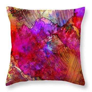Pink Petals II Throw Pillow