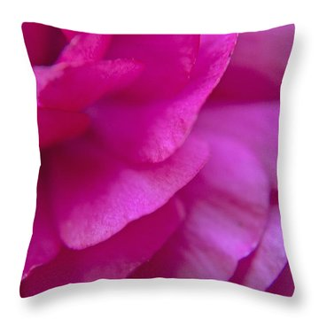 Pink Petals Throw Pillow by M Valeriano