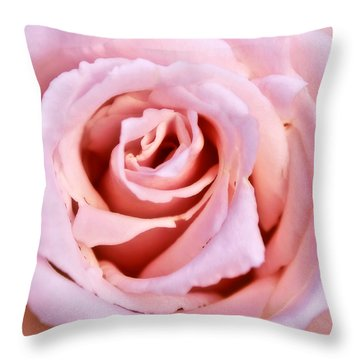 Pink Pink Rose Throw Pillow by Svetlana Sewell