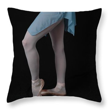 Throw Pillow featuring the photograph Ballet Practice by Nancy Taylor