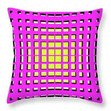 Pink Polynomial Throw Pillow