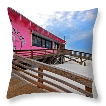 Pink Pony Throw Pillow