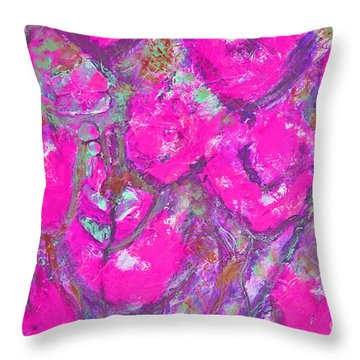 Pink Poppies Throw Pillow by Gallery Messina