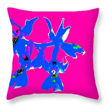 Pink Provence Orchid Throw Pillow
