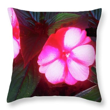 Pink Red Glow Throw Pillow