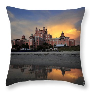 Pink Reflections Throw Pillow by David Lee Thompson