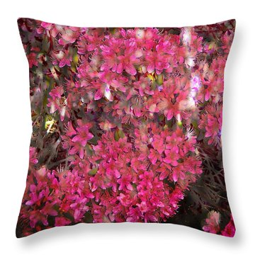 Pink Rhododendron Throw Pillow by Thom Zehrfeld