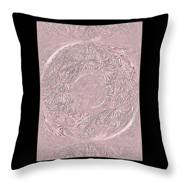 Throw Pillow featuring the digital art Pink Ring. Special by Oksana Semenchenko