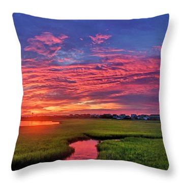 Throw Pillow featuring the photograph Pink River by DJA Images