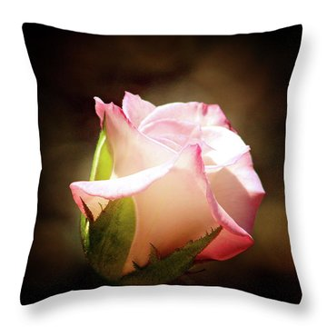 Pink Rose 2 Throw Pillow by Inspirational Photo Creations Audrey Woods