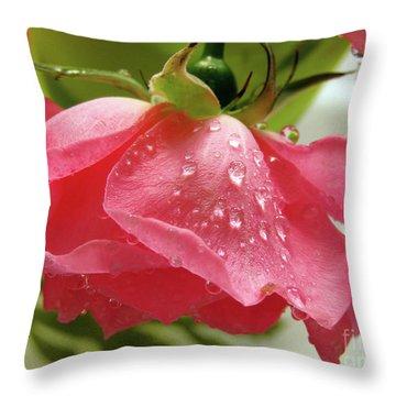 Pink Rose #3 Throw Pillow