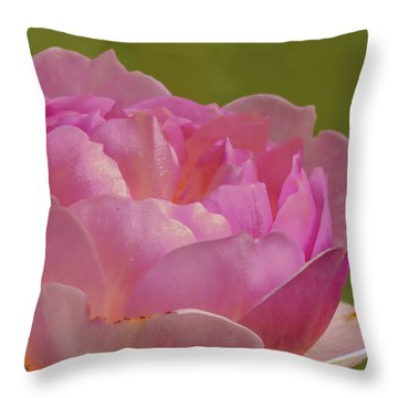 Pink Rose #d3 Throw Pillow