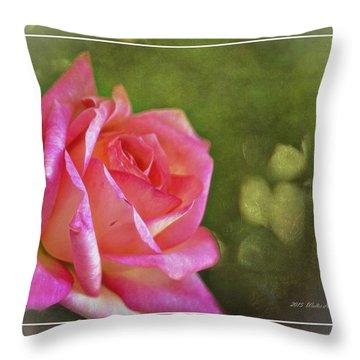 Pink Rose Dream Digital Art 3 Throw Pillow by Walter Herrit