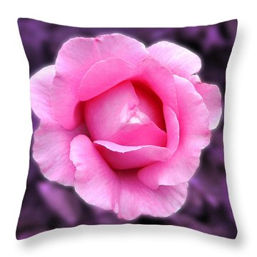 Throw Pillow featuring the photograph Pink Rose by Howard Bagley
