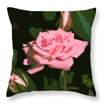 Pink Rose  Throw Pillow by Kathleen Stephens