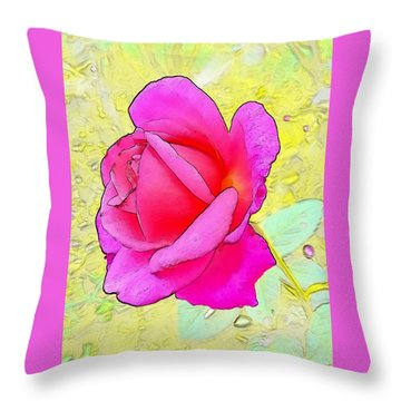 Pink Rose Throw Pillow