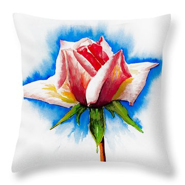 Pink Rose Throw Pillow by Svetlana Sewell