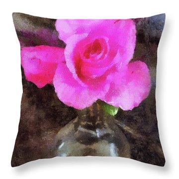 Pink Rozalea Throw Pillow
