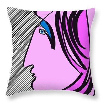Pink Scarf Throw Pillow