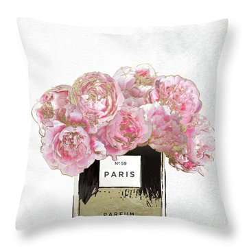 Pink Scented Throw Pillow by Mindy Sommers