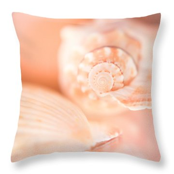Pink Shell Pair Throw Pillow