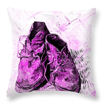 Throw Pillow featuring the photograph Pink Shoes by John Stephens