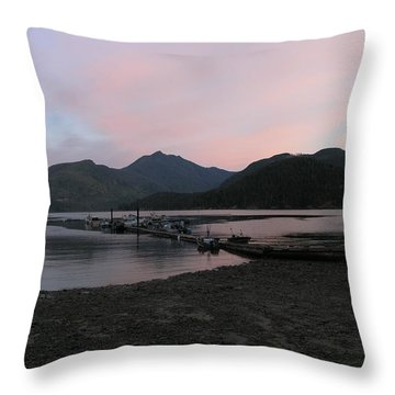 Pink Skies Throw Pillow
