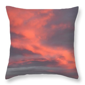Throw Pillow featuring the digital art Pink Clouds In The Sky by Margarethe Binkley