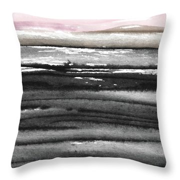 Pink Sky Horizon- Art By Linda Woods Throw Pillow