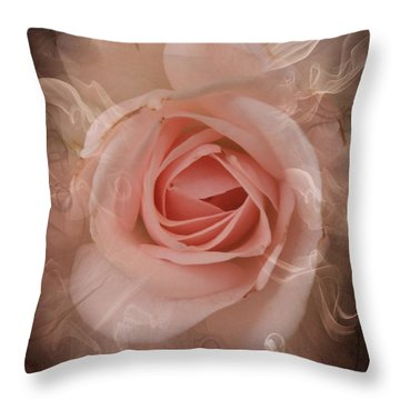 Pink Smokey Throw Pillow