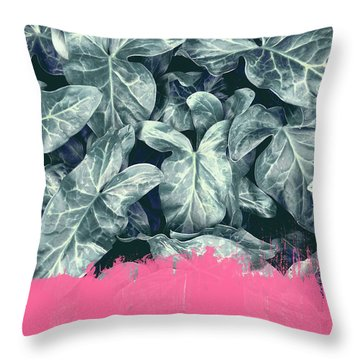 Pink Sorbet On Jungle Throw Pillow