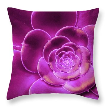 Pink Succulent Throw Pillow
