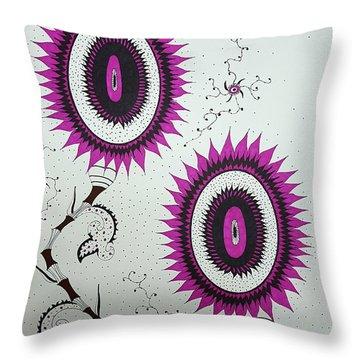 Pink Sunflowers Throw Pillow