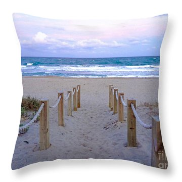Pink Sunrise Beach Treasure Coast Florida C6 Throw Pillow