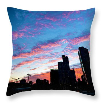 Pink Sunrise Throw Pillow