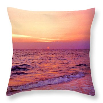 Pink Sunrise Throw Pillow by Kristin Elmquist