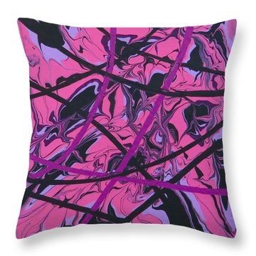 Pink Swirl Throw Pillow