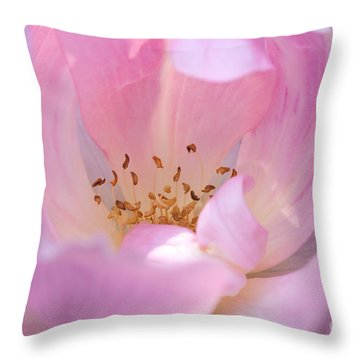 Throw Pillow featuring the photograph Pink Swirls by Todd Blanchard