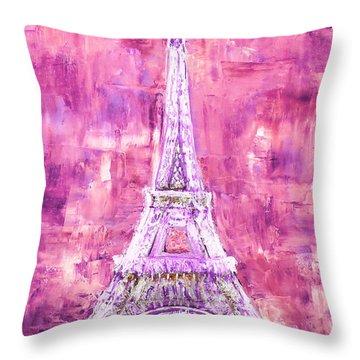 Pink Tower Throw Pillow