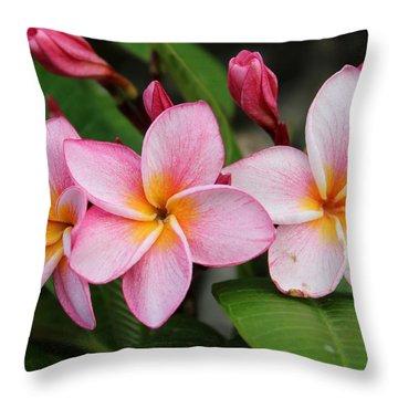 Pink Trio Throw Pillow