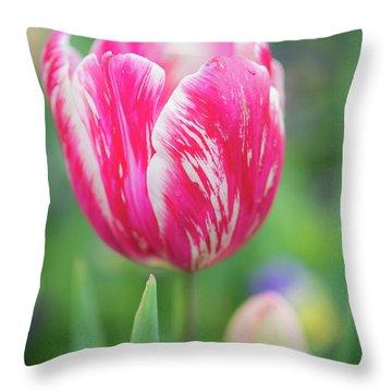 Pink Tulip II Throw Pillow
