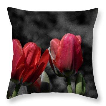 Pink Tulip Pop Throw Pillow