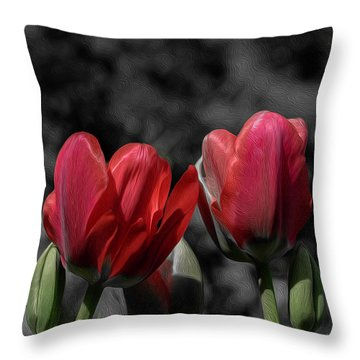 Pink Tulip Pop Throw Pillow